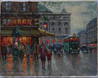 Cafe de la Paix. Evening Scene