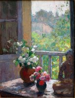 Still Life in Window with Figurine