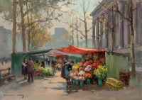 Flower Market at the Madeleine